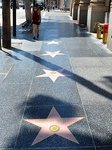 Les étoiles du Walk of Fame, Hollywwod boulevard.