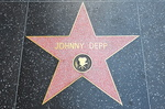 L'étoile de Johnny Depp, Hollywood boulevard.