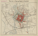 Plan de Vitry-le-François en 1888